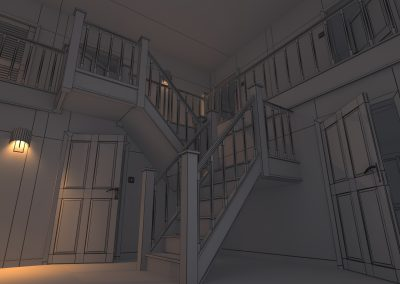House interior wireframe