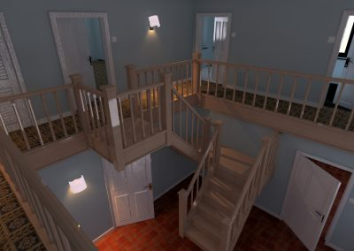 House interior upper floor colour